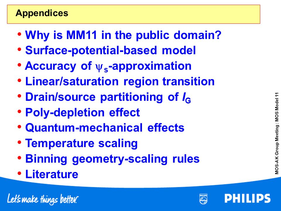 Why is MM11 in the public domain Surface-potential-based model