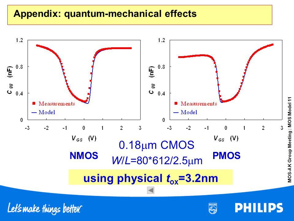 Appendix: quantum-mechanical effects