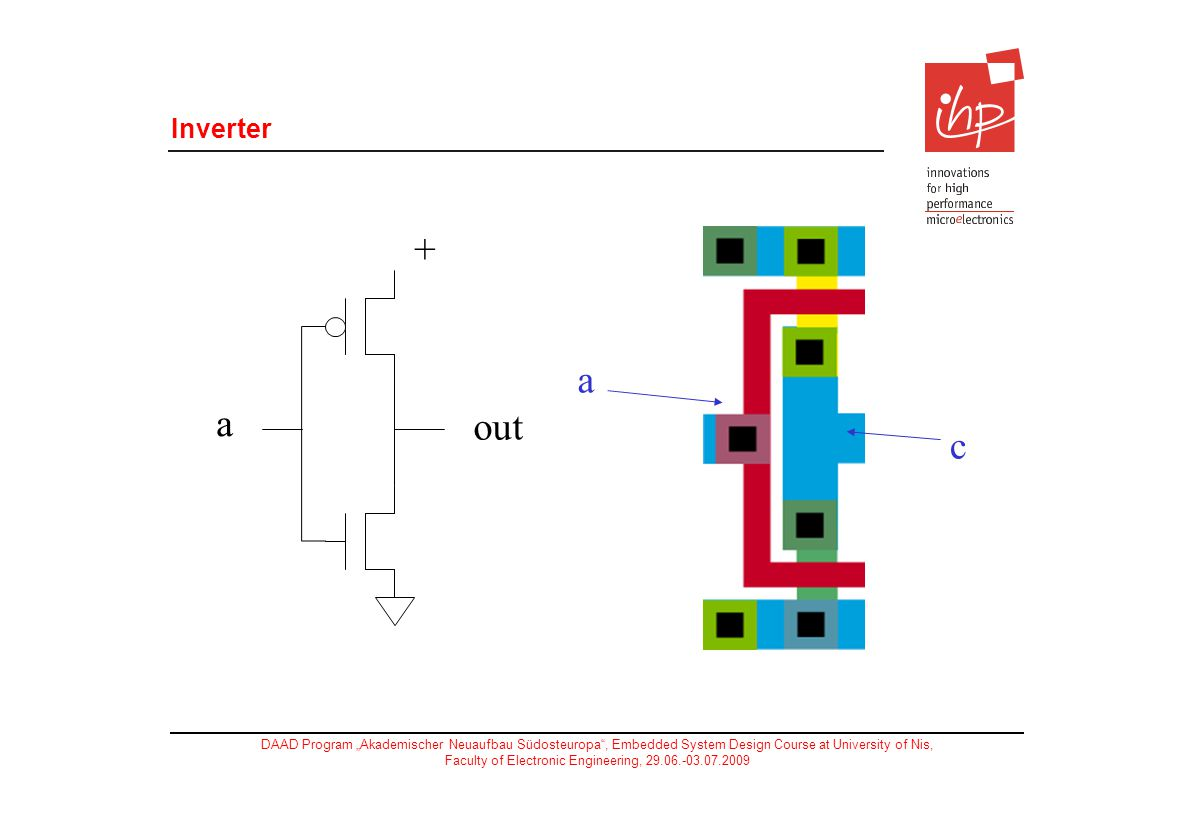 Inverter a out + c a 8