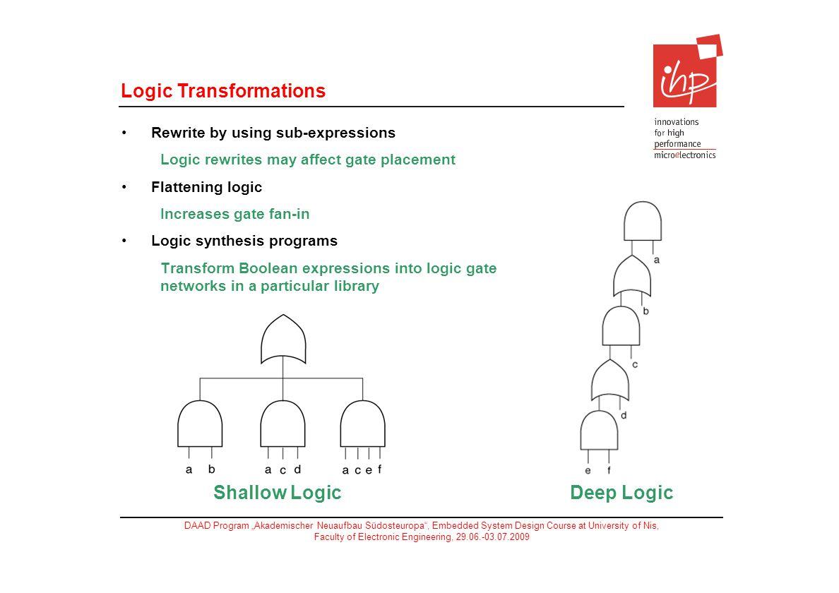 Logic Transformations