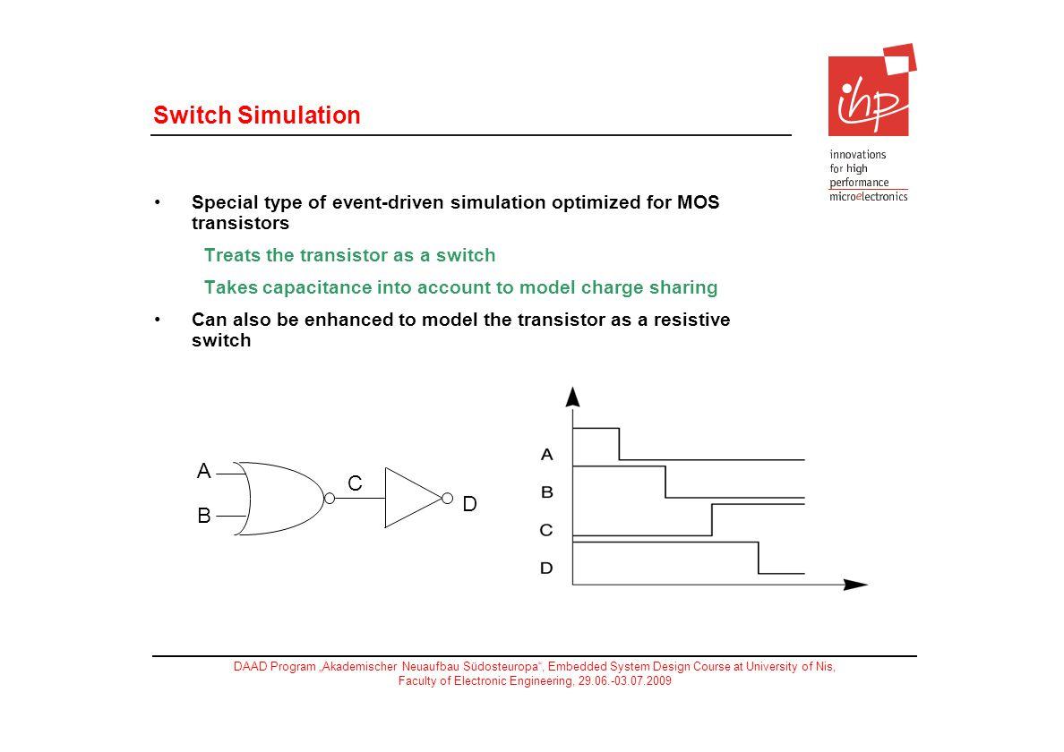 Switch Simulation A C D B