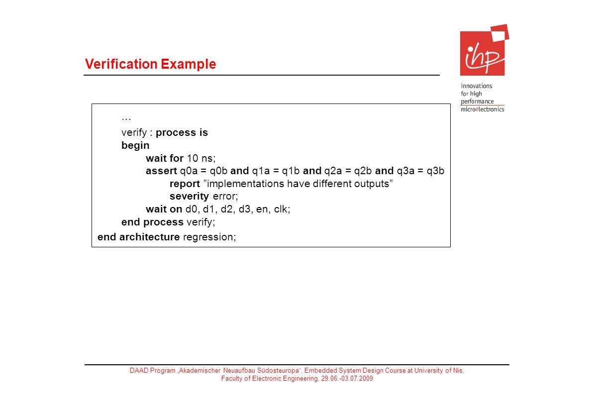 … Verification Example