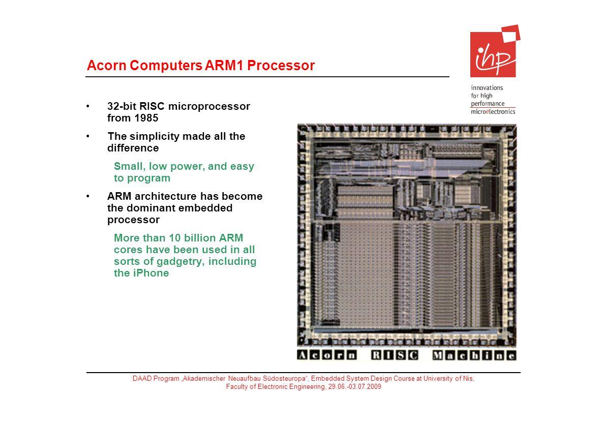 Acorn Computers ARM1 Processor