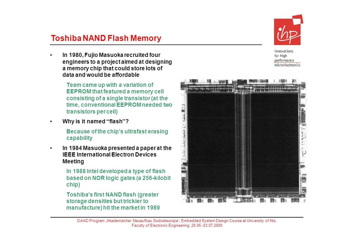 Toshiba NAND Flash Memory
