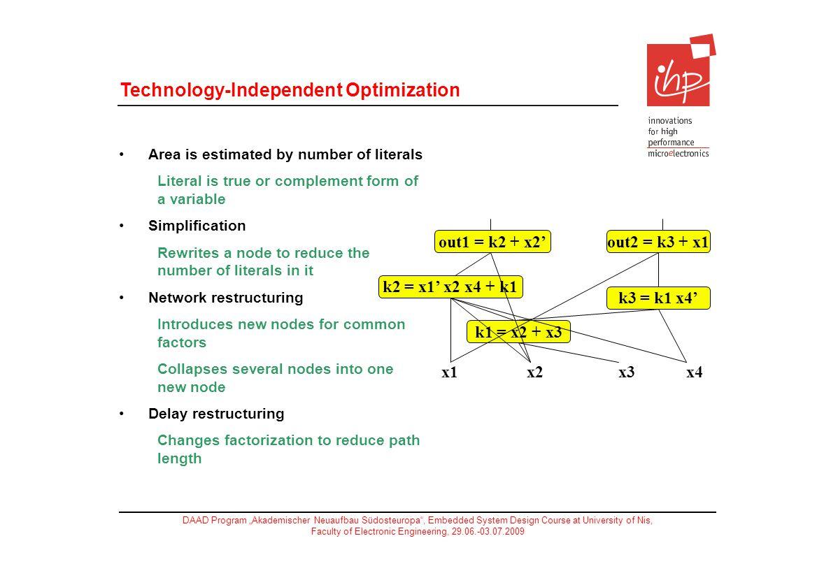 Technology-Independent Optimization