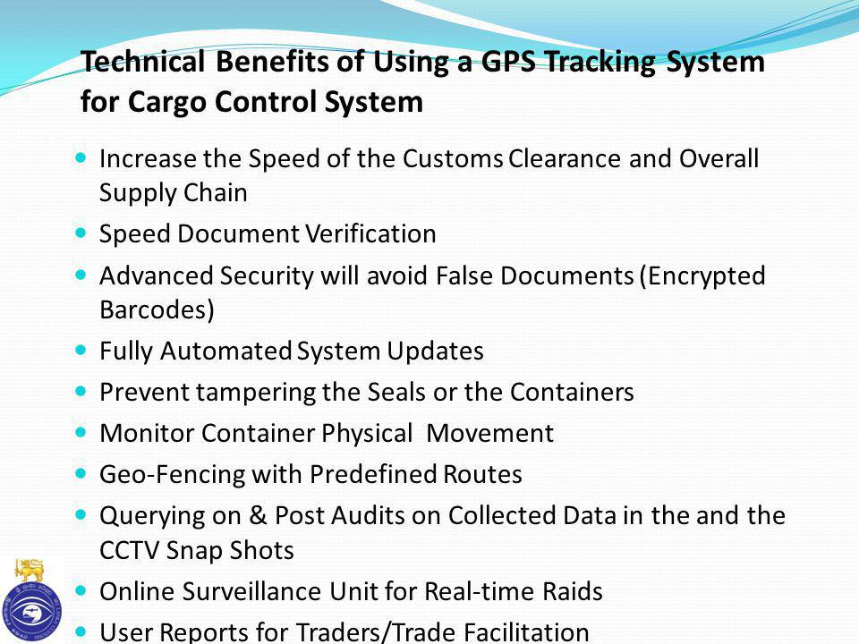Technical Benefits of Using a GPS Tracking System for Cargo Control System