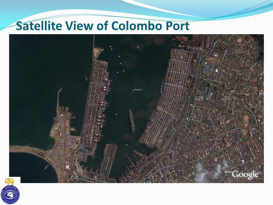 Satellite View of Colombo Port
