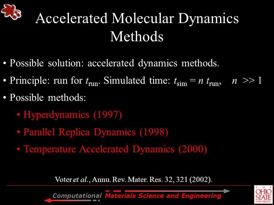 Accelerated Molecular Dynamics Methods