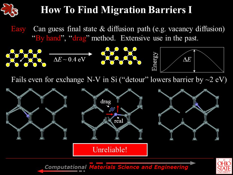How To Find Migration Barriers I