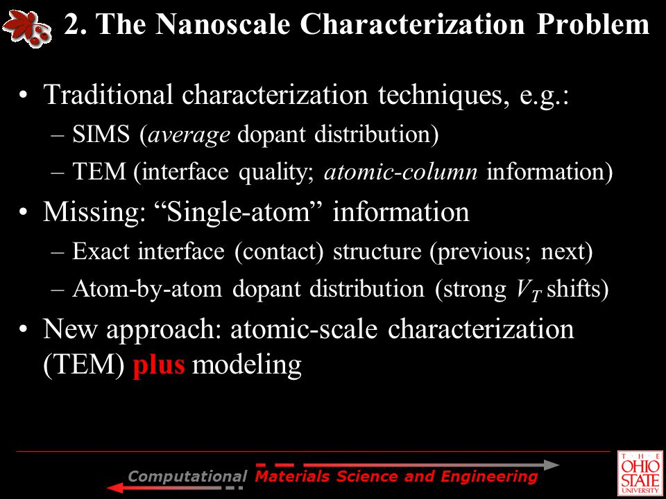 2. The Nanoscale Characterization Problem