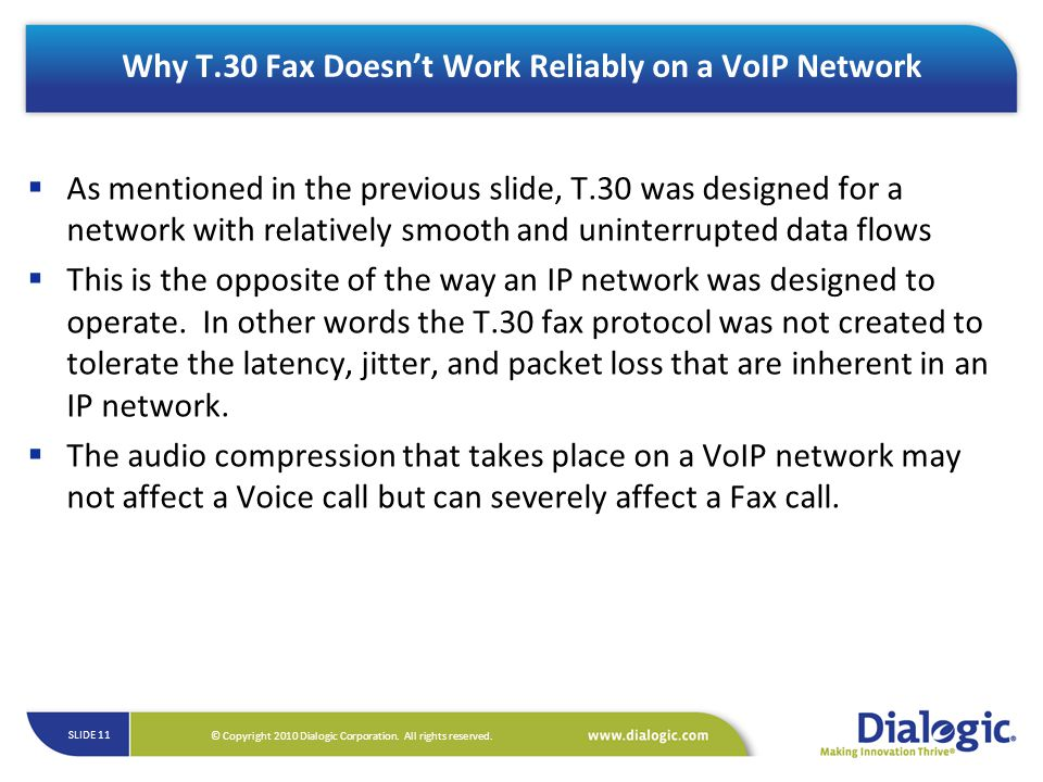 Why T.30 Fax Doesn't Work Reliably on a VoIP Network