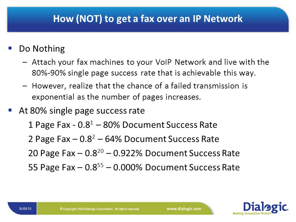 How (NOT) to get a fax over an IP Network