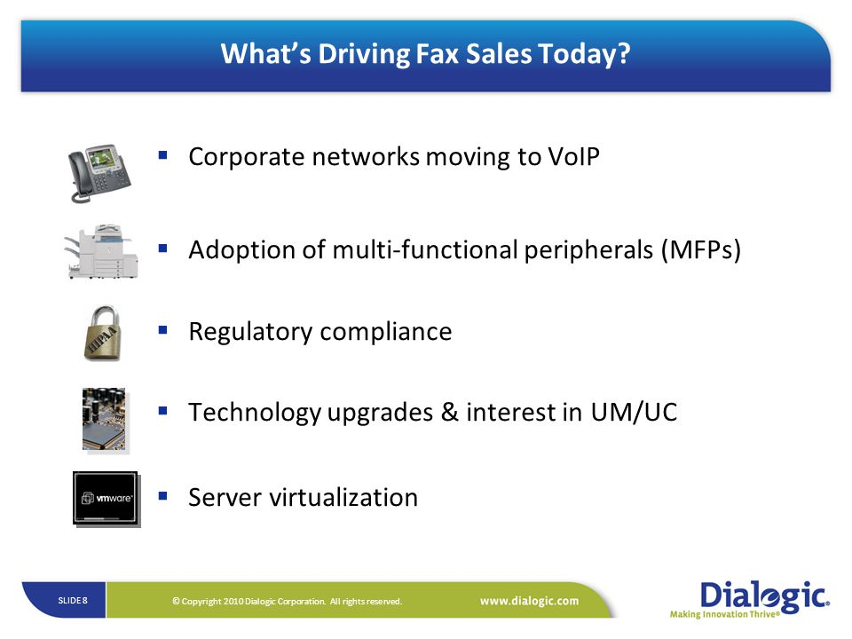 What's Driving Fax Sales Today