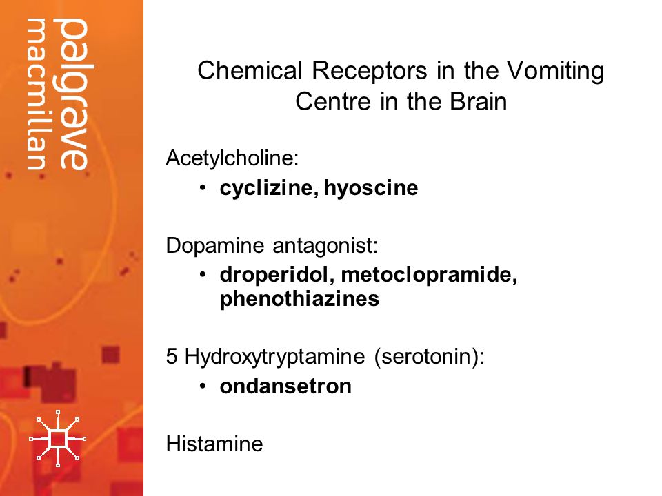 Chemical Receptors in the Vomiting Centre in the Brain