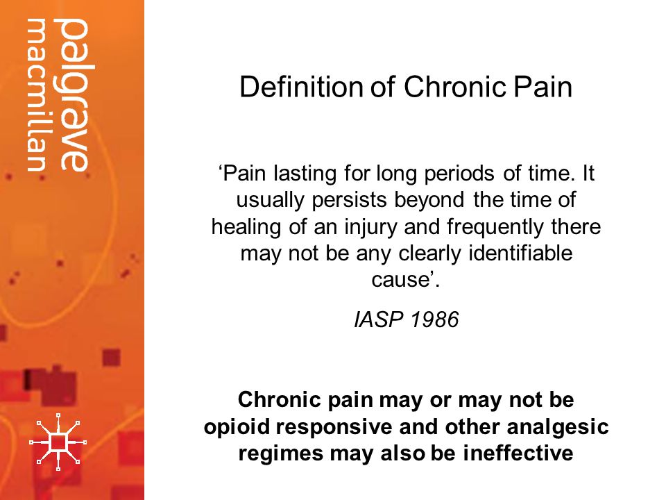 Definition of Chronic Pain