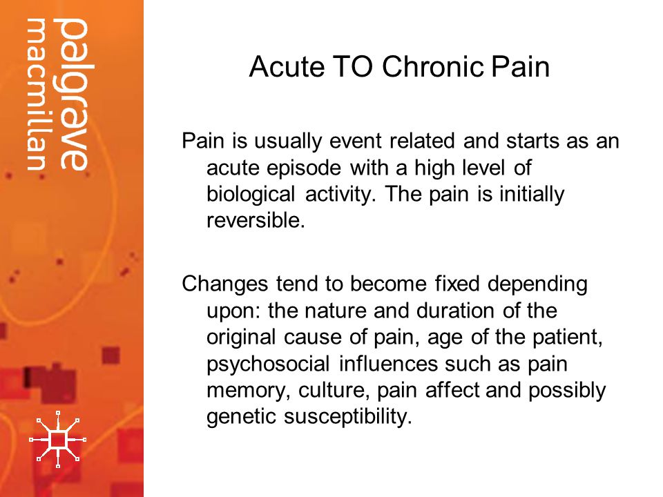 Acute TO Chronic Pain