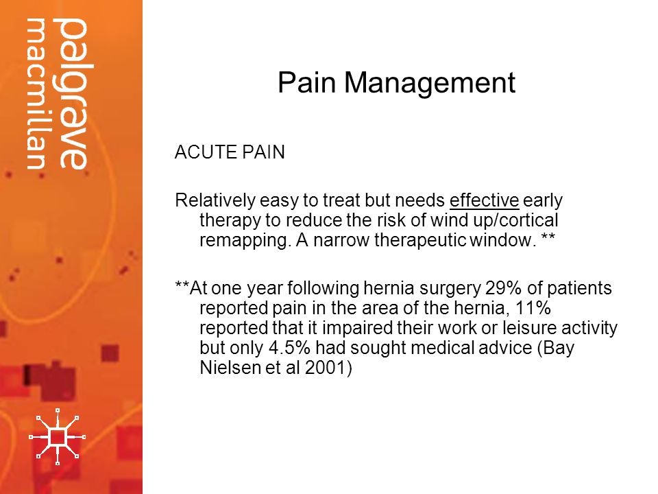 Pain Management ACUTE PAIN