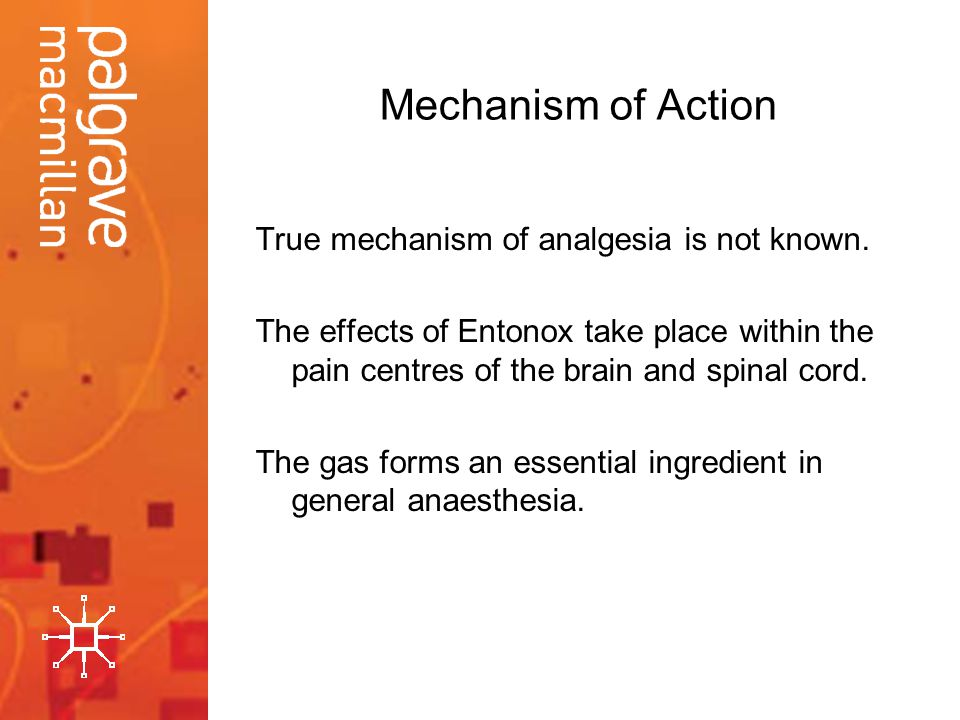 Mechanism of Action True mechanism of analgesia is not known.