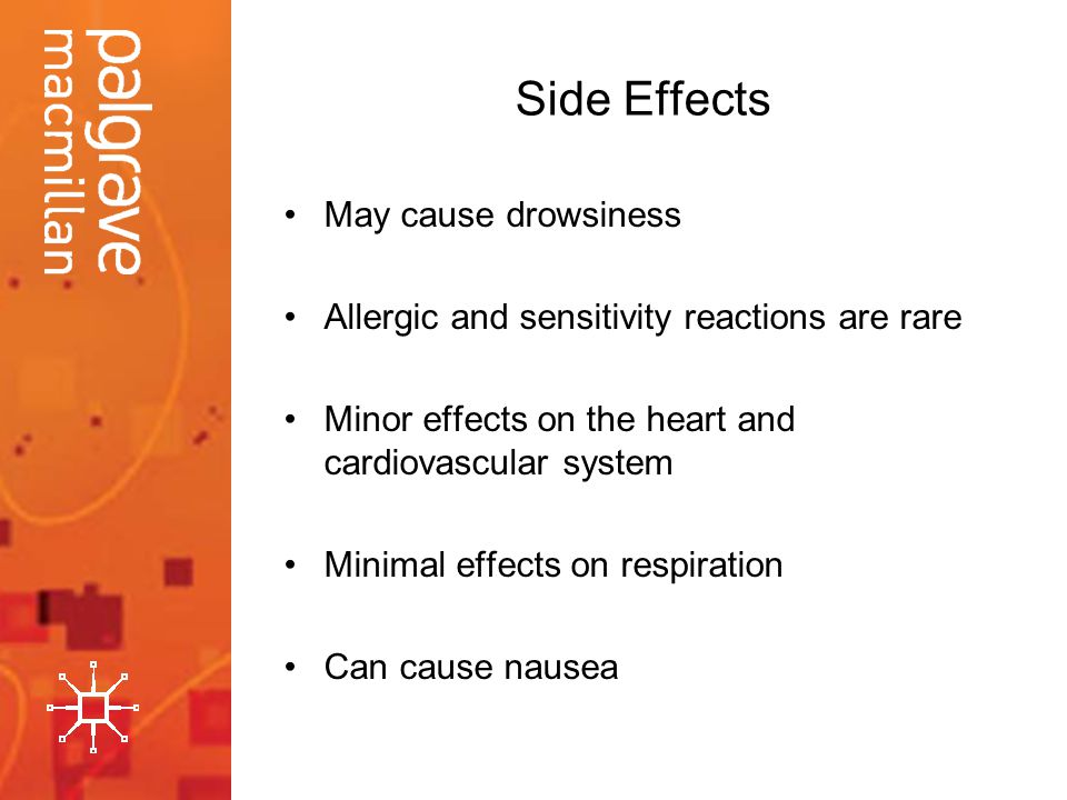 Side Effects May cause drowsiness