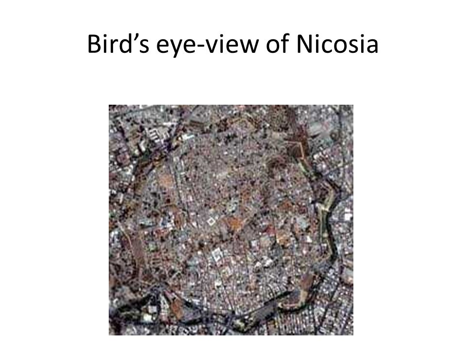 Bird's eye-view of Nicosia