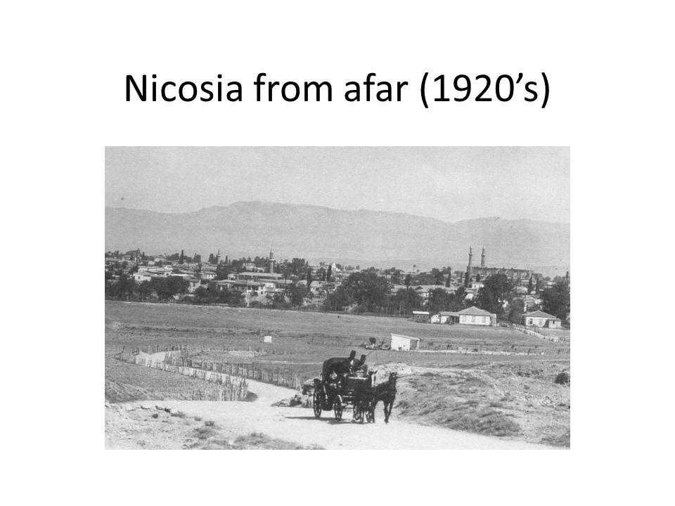 Nicosia from afar (1920's)