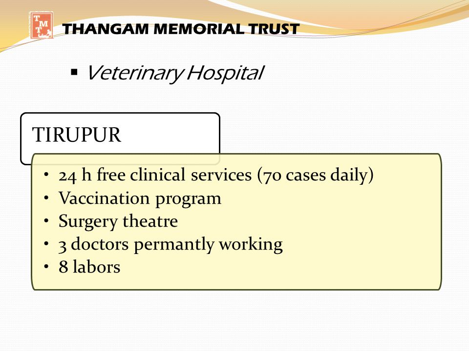 Veterinary Hospital TIRUPUR