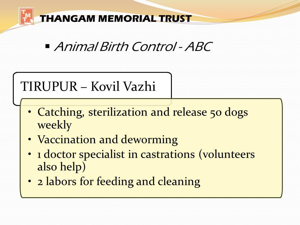 Animal Birth Control - ABC
