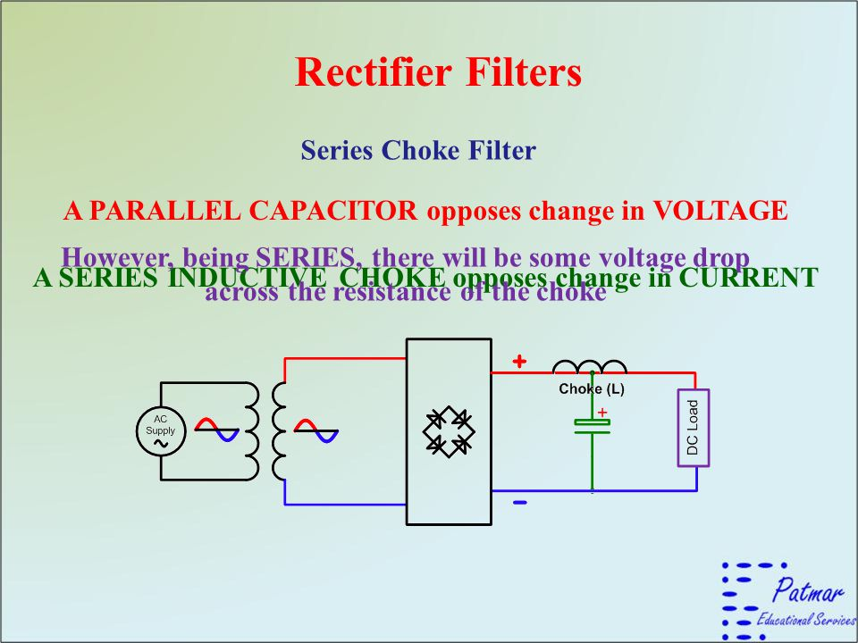 Rectifier Filters Series Choke Filter