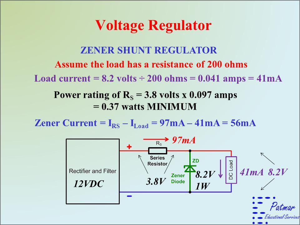 Voltage Regulator ZENER SHUNT REGULATOR
