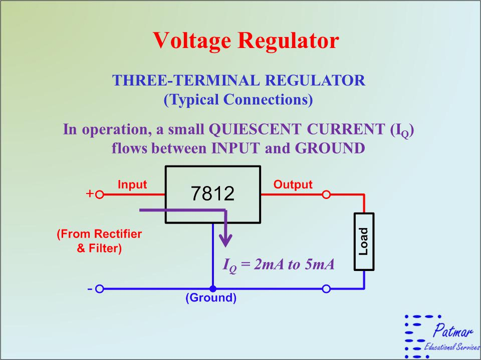 THREE-TERMINAL REGULATOR (Typical Connections)