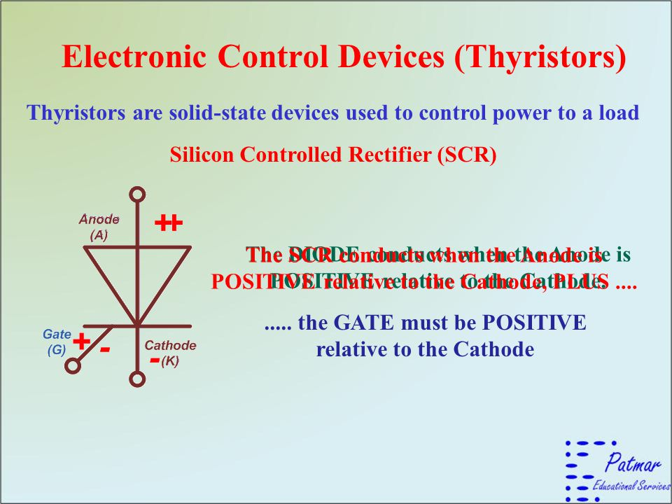 Electronic Control Devices (Thyristors)