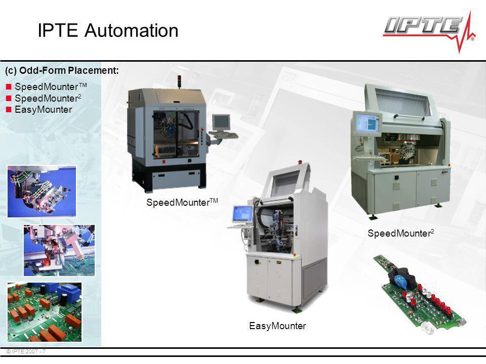 IPTE Automation (c) Odd-Form Placement: SpeedMounter™ SpeedMounter2