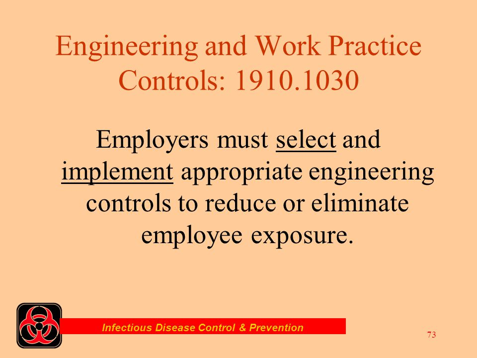 Engineering and Work Practice Controls: 1910.1030