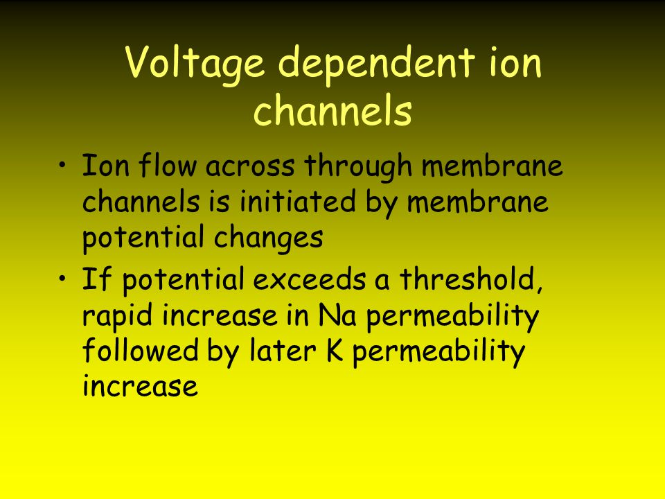 Voltage dependent ion channels