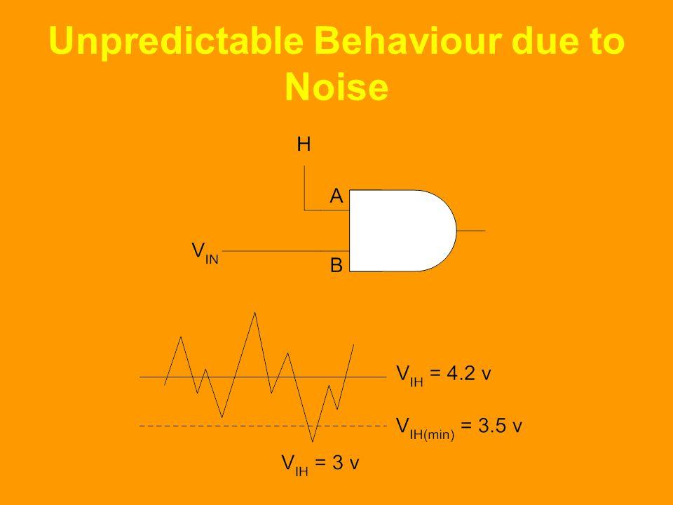 Unpredictable Behaviour due to Noise