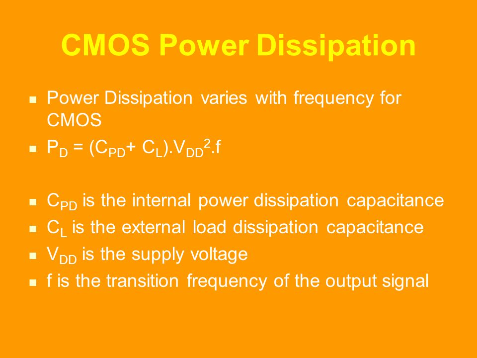 CMOS Power Dissipation
