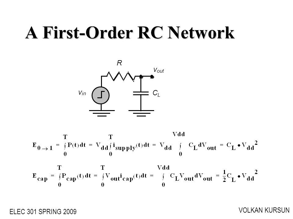 A First-Order RC Network
