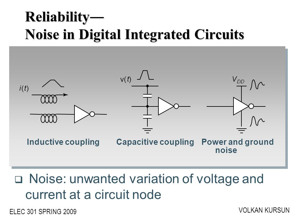 Reliability― Noise in Digital Integrated Circuits
