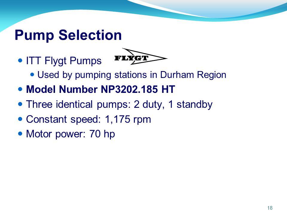 Pump Selection ITT Flygt Pumps Model Number NP3202.185 HT
