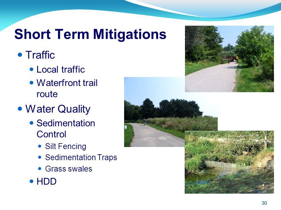 Short Term Mitigations