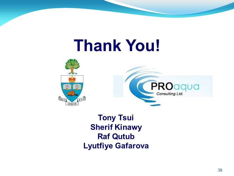 Thank You! Tony Tsui Sherif Kinawy Raf Qutub Lyutfiye Gafarova 39 39