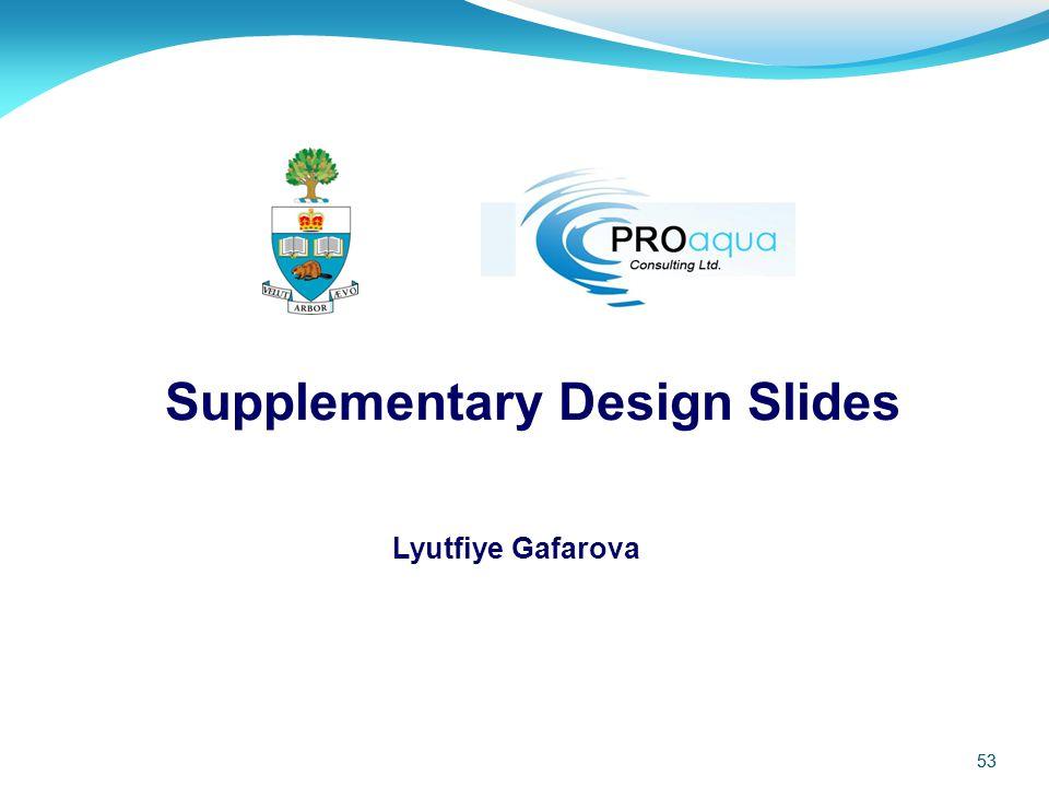 Supplementary Design Slides