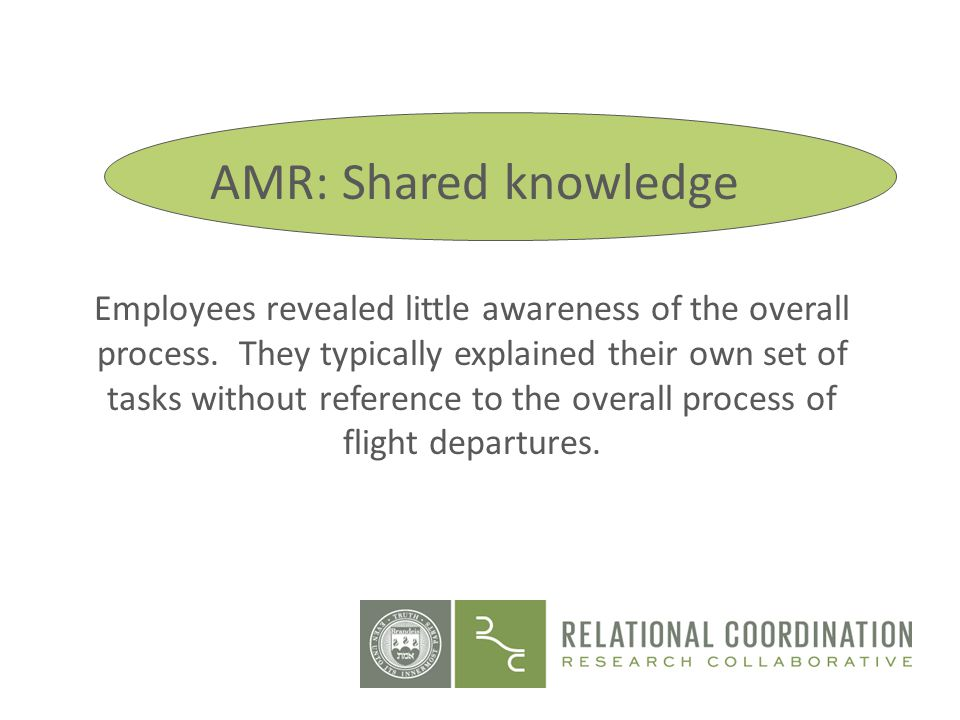 AMR: Shared knowledge