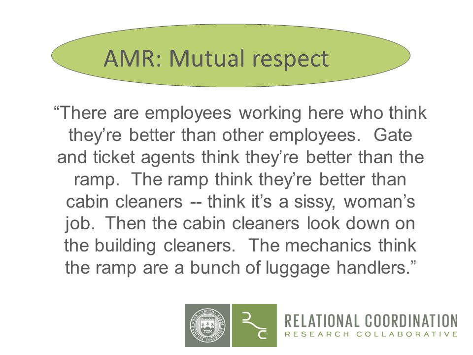 AMR: Mutual respect Site 1: Mutual Respect