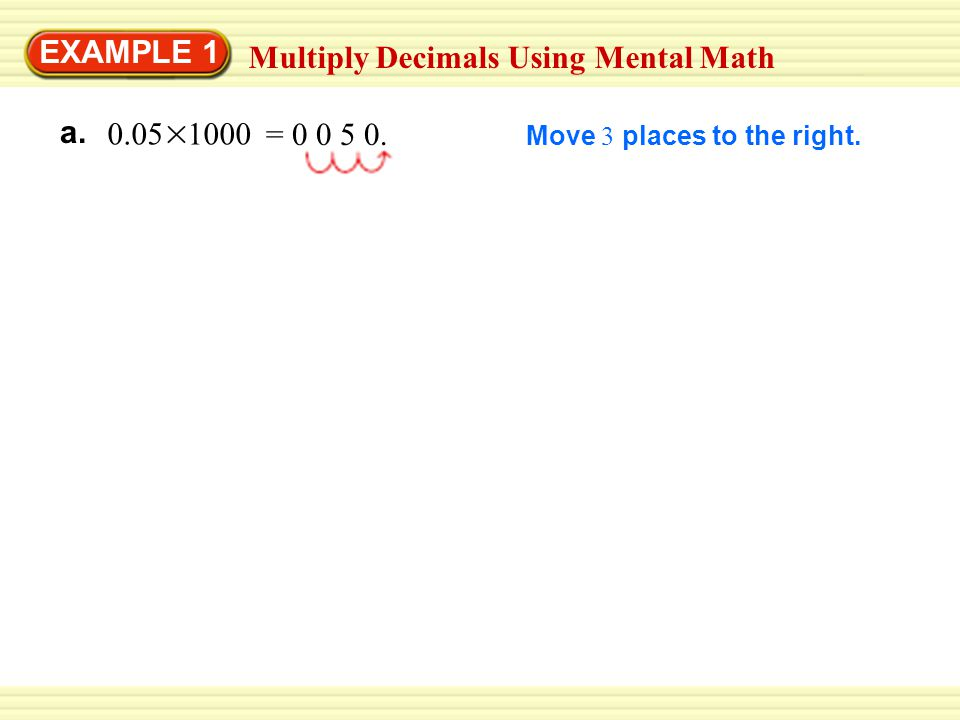 Multiply Decimals Using Mental Math