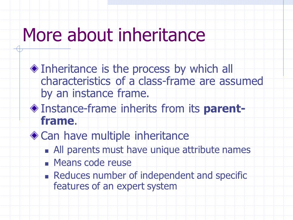 More about inheritance