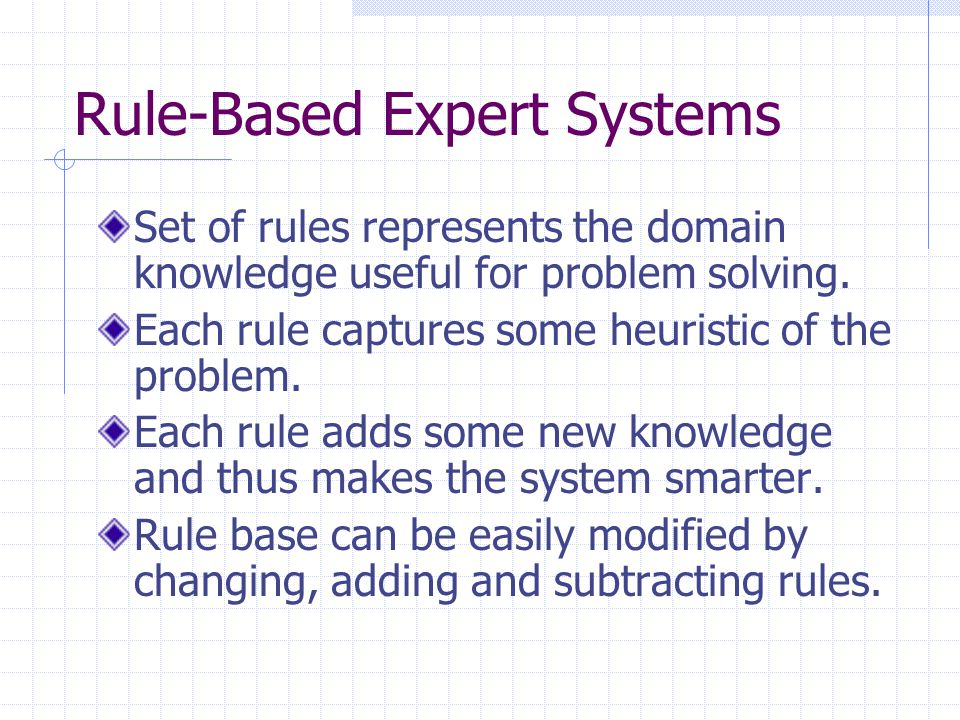 Rule-Based Expert Systems