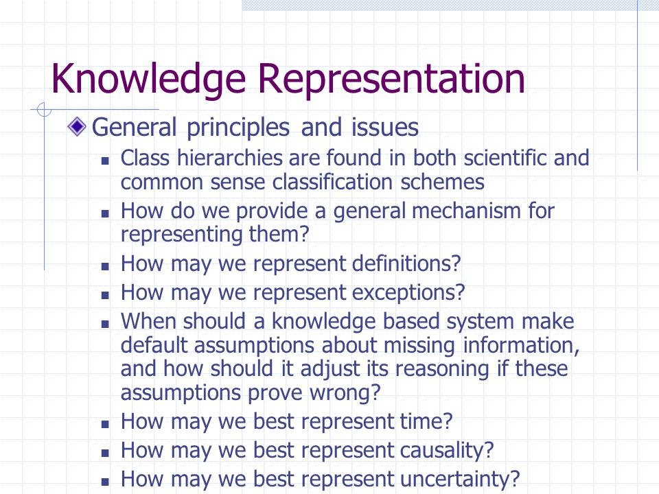 Knowledge Representation
