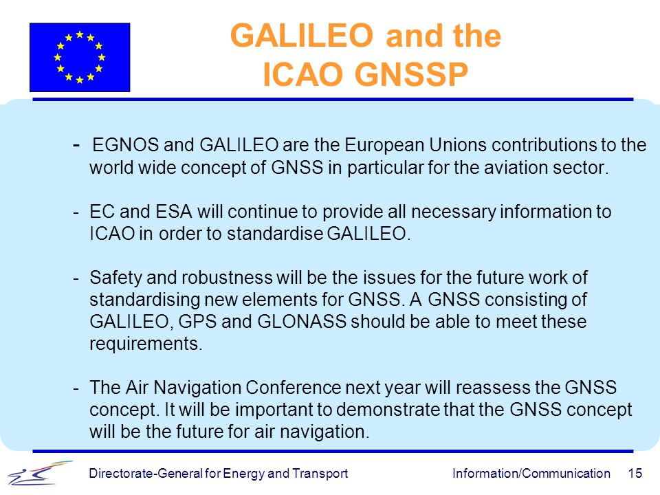 GALILEO and the ICAO GNSSP