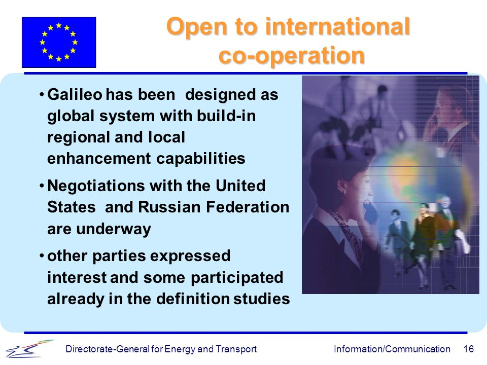 Open to international co-operation